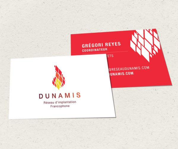 Création de toute l'identité graphique du Rés. Dunamis : Logo, charte, plaquettes, flyers, PLV, site